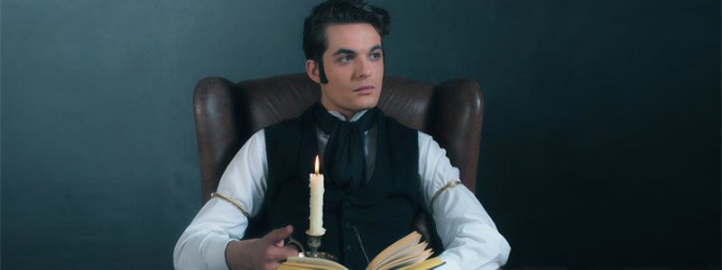 Reading with a candle